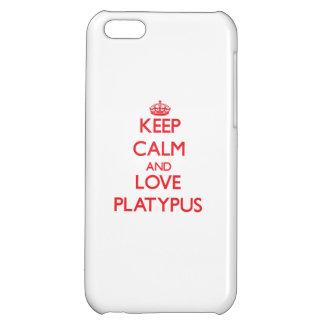 Guarde la calma y ame Platypus