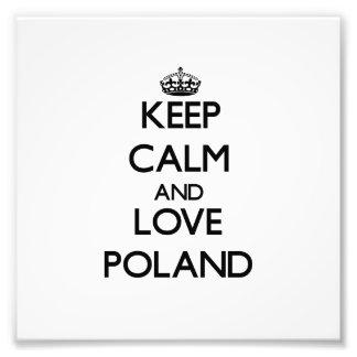 Guarde la calma y ame Polonia Fotografias