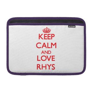 Guarde la calma y ame Rhys Funda Para Macbook Air