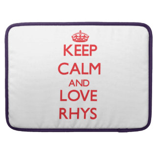 Guarde la calma y ame Rhys Funda Para Macbook Pro
