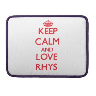 Guarde la calma y ame Rhys Funda Para Macbooks