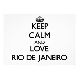 Guarde la calma y ame Río de Janeiro