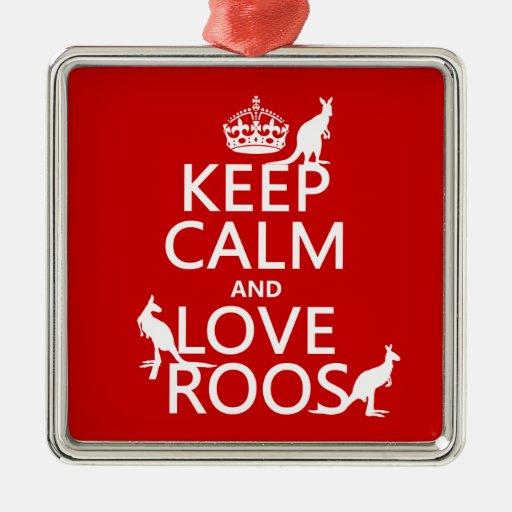 Guarde la calma y ame 'Roos (canguro) - todos los  Adornos De Navidad
