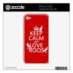 Guarde la calma y ame 'Roos (canguro) - todos los  Skin Para El iPhone 4