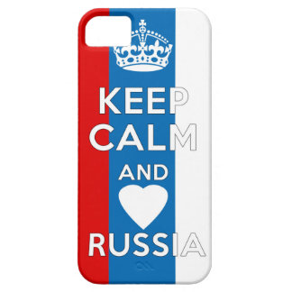 Guarde la calma y ame Rusia Funda Para iPhone SE/5/5s