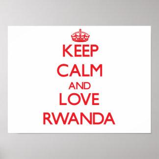 Guarde la calma y ame Rwanda