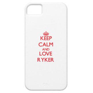 Guarde la calma y ame Ryker iPhone 5 Case-Mate Protectores