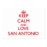 Guarde la calma y ame San Antonio Tarjetas De Visita