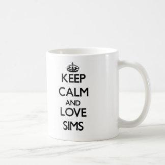 Guarde la calma y ame Sims Tazas