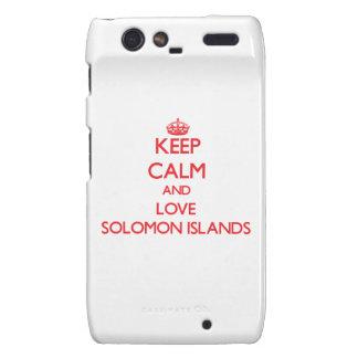 Guarde la calma y ame Solomon Island Droid RAZR Funda