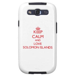 Guarde la calma y ame Solomon Island Galaxy SIII Carcasa