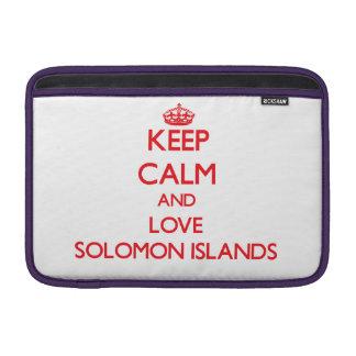 Guarde la calma y ame Solomon Island Funda Macbook Air