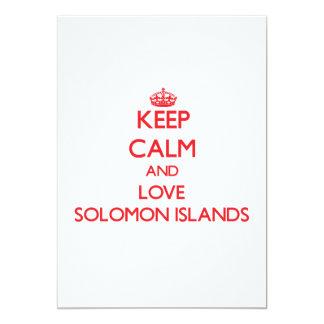 Guarde la calma y ame Solomon Island Invitación