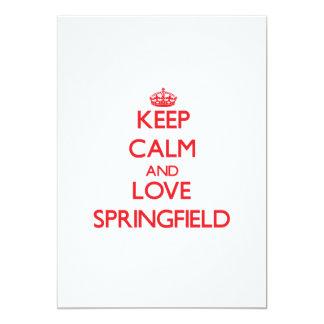 Guarde la calma y ame Springfield Anuncio