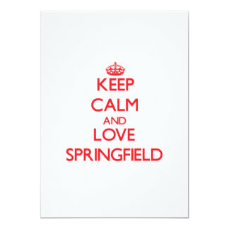 Guarde la calma y ame Springfield Anuncio Personalizado