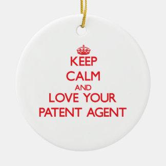 Guarde la calma y ame su agente de patente