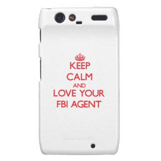 Guarde la calma y ame su agente del FBI Motorola Droid RAZR Carcasas