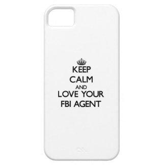 Guarde la calma y ame su agente del FBI Funda Para iPhone 5 Barely There