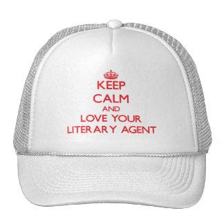 Guarde la calma y ame su agente literario gorros