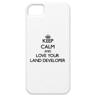 Guarde la calma y ame su desarrollador de la iPhone 5 Case-Mate cárcasa