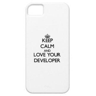 Guarde la calma y ame su desarrollador iPhone 5 Case-Mate cobertura