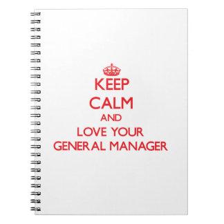 Guarde la calma y ame su director general cuaderno