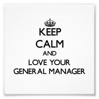 Guarde la calma y ame su director general cojinete