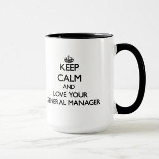Guarde la calma y ame su director general taza