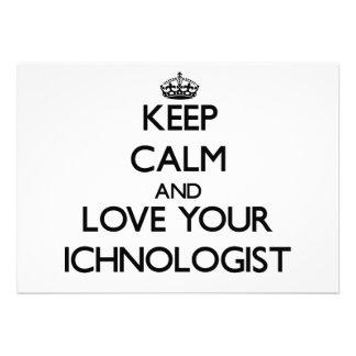 Guarde la calma y ame su Ichnologist
