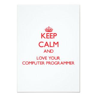 Guarde la calma y ame su informático anuncio