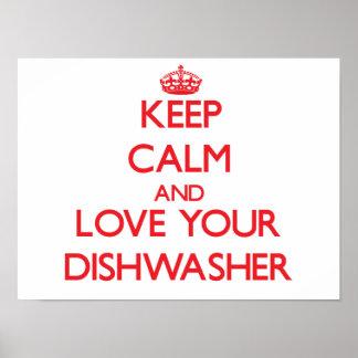 Guarde la calma y ame su lavaplatos impresiones