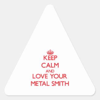 Guarde la calma y ame su metal Smith