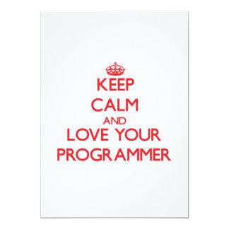 Guarde la calma y ame su programador invitacion personalizada