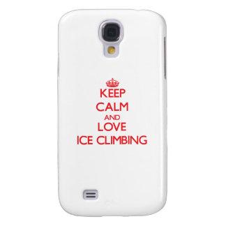 Guarde la calma y ame subir del hielo