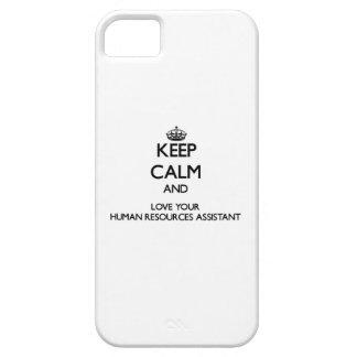Guarde la calma y ame sus recursos humanos iPhone 5 funda