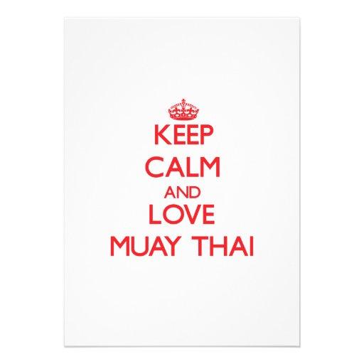 Guarde la calma y ame tailandés de Muay Comunicado