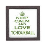 Guarde la calma y ame Tchoukball Cajas De Joyas De Calidad