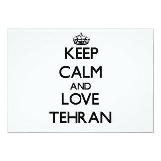 Guarde la calma y ame Teherán Comunicado