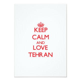 Guarde la calma y ame Teherán Comunicado Personal