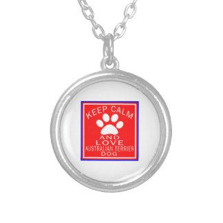 Guarde la calma y ame Terrier australiano Collar