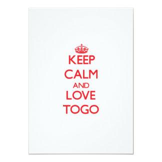 """Guarde la calma y ame Togo Invitación 5"""" X 7"""""""