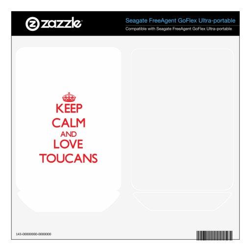 Guarde la calma y ame Toucans FreeAgent GoFlex Skin