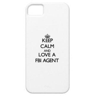 Guarde la calma y ame un agente del FBI iPhone 5 Funda
