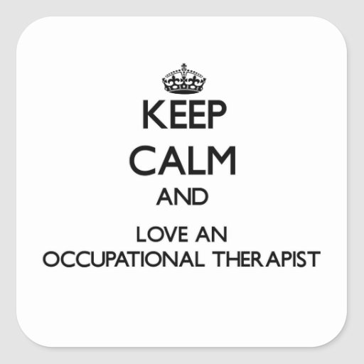 Guarde la calma y ame un anrapist profesional calcomanias cuadradas