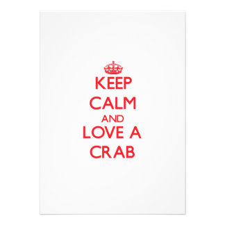 Guarde la calma y ame un cangrejo anuncios