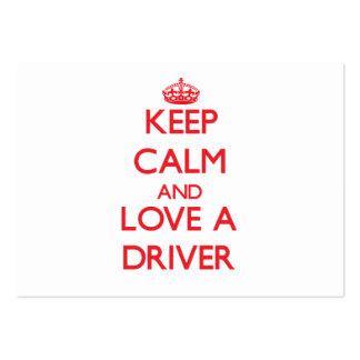 Guarde la calma y ame un conductor tarjeta de visita
