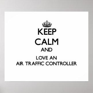 Guarde la calma y ame un controlador aéreo impresiones