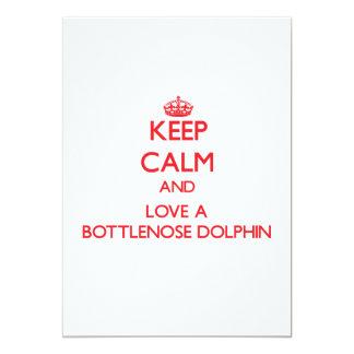 Guarde la calma y ame un delfín de Bottlenose Invitación Personalizada
