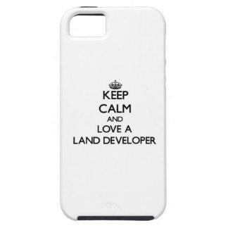 Guarde la calma y ame un desarrollador de la iPhone 5 Case-Mate protectores