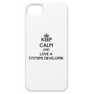 Guarde la calma y ame un desarrollador de los iPhone 5 Case-Mate coberturas